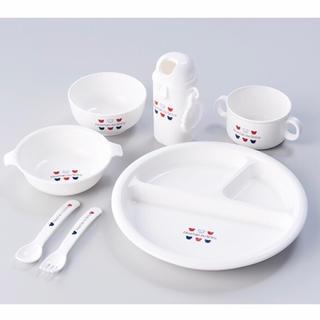 赤ちゃんの城 プレートセット 食器 ベビー食器 トリコロール(プレート/茶碗)