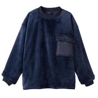 ムジルシリョウヒン(MUJI (無印良品))のmujilabo 18aw あったかファイバー着る毛布リバーシブルプルオーバー(ニット/セーター)