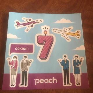 peach 7周年記念非売品ステッカー シール(ノベルティグッズ)