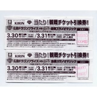 3/30 or 3/31 広島ドラゴンフライズ 観戦チケット 交渉用(バスケットボール)