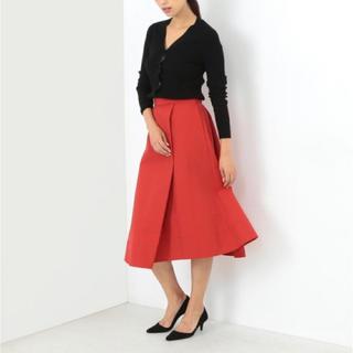 デミルクスビームス(Demi-Luxe BEAMS)のDemi-Luxe BEAMS / 1タック Aラインスカート (ひざ丈スカート)