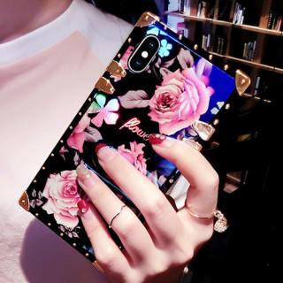 iPhone7 iPhone8 花柄 iphone カバー スクウェア ケース