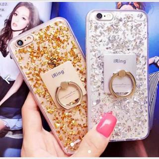 iPhone7 iPhone8 金箔 キラキラ ラメ ゴールド ソフトケース