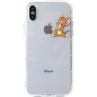 訳あり特価 トムとジェリー iPhone クリアケース 各種サイズ有り ジェリー