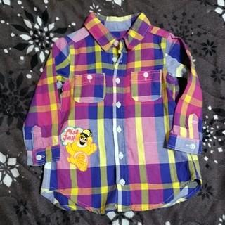 ジャム(JAM)のよた様専用90cmJAM長袖チェックシャツジャム美品(ブラウス)