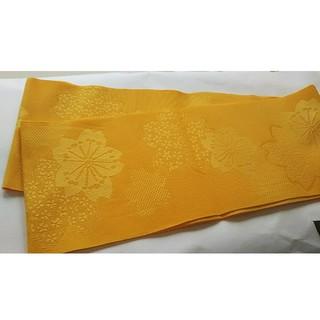 半幅帯 袴帯 浴衣帯 黄色(浴衣帯)
