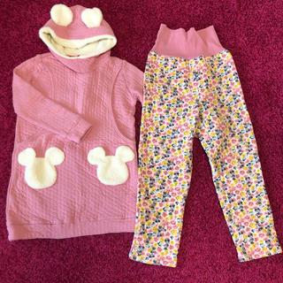 Disney - マタニティパジャマ 授乳服 ミニー ディズニー ピンク