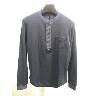 ガラアーベント(GalaabenD)のQL MansionMaker「ヘンリーネックカットソー」ネイビー色 サイズ44(Tシャツ/カットソー(七分/長袖))
