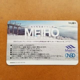 岐阜奥美濃スキー場 めいほう 1日 リフト券(スキー場)