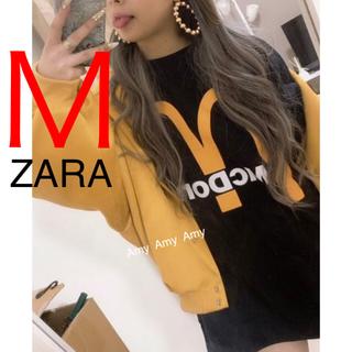ザラ(ZARA)のZARA 新品 マクドナルド スウェット ユニセックス Mサイズ 人気 完売商品(トレーナー/スウェット)