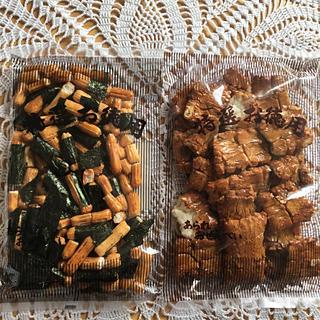 カメダセイカ(亀田製菓)の割れせん*のりミックス&角もち   正油(菓子/デザート)