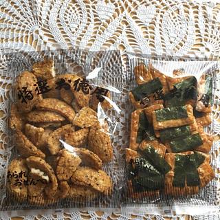 カメダセイカ(亀田製菓)の割れせん①*ごま揚げ&うるちせんのり付き(菓子/デザート)