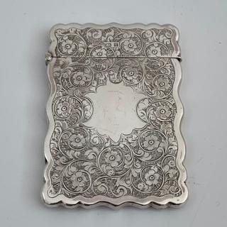 カードケース【アンティーク】シルバー 1901年製(金属工芸)