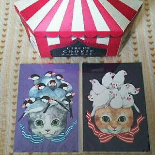 ヒグチユウコ クッキー外箱 と ポストカード(写真/ポストカード)