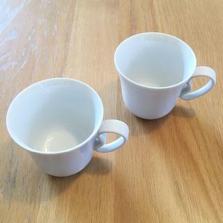 アレッシィ(ALESSI)のALESSI KU コーヒーカップ2個セット ホワイト(グラス/カップ)