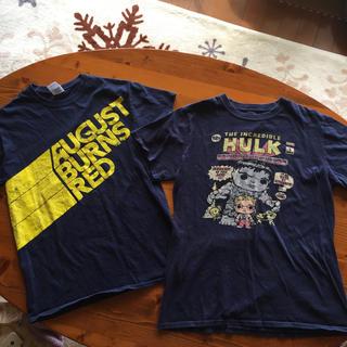 ギルタン(GILDAN)のアメリカン古着 GILDANとMARVEL Tシャツ サイズ S 2枚セットで(Tシャツ/カットソー(半袖/袖なし))