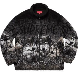 Supreme - 19SS Supreme wolf fleece jacket L black