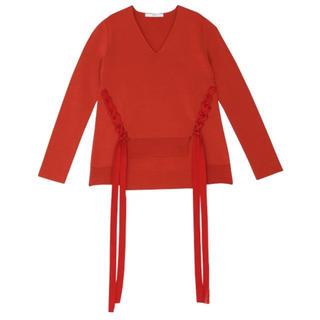 ステュディオス(STUDIOUS)のタグ付き新品 UN3D 赤 春ニット RED アンスリード(ニット/セーター)