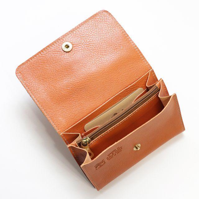 7975b90ea94f IL BISONTE(イルビゾンテ)の新品 イルビゾンテ 財布 二つ折り ヤキヌメ レザー ミニ財布 小銭