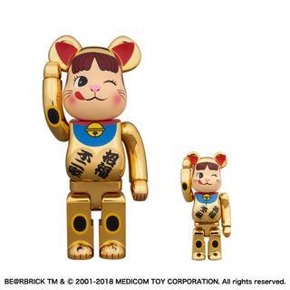 不二家 - BE@RBRICK 招き猫 ペコちゃん 金メッキ 弐 100% & 400%