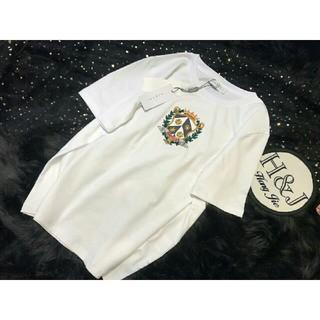 サンドロ(Sandro)のSANDRO  サンドロ sandro  tシャツ 刺繍 S(Tシャツ(半袖/袖なし))