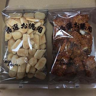 カメダセイカ(亀田製菓)の割れせん*にこやか&角もち(菓子/デザート)