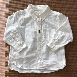 MUJI (無印良品) - インド綿洗いざらしオックスボタンダウンシャツ