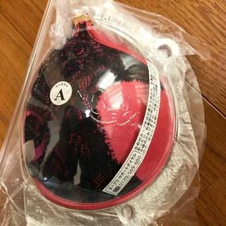 ラヴィジュール(Ravijour)のヌーブラ color   ブラックレースとサーモンピンク  サイズ☆A(ヌーブラ)