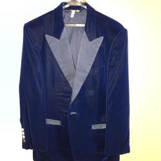 マッサン ベルベットジャケットAB5 紺(テーラードジャケット)