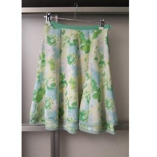 カールパークレーン(KarL Park Lane)のカールパークレーン 7号 膝上丈 花柄スカート 春夏用(ひざ丈スカート)