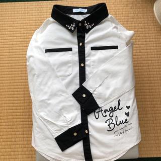 エンジェルブルー(angelblue)のANGEL BLUE  160 長袖ブラウス(ブラウス)