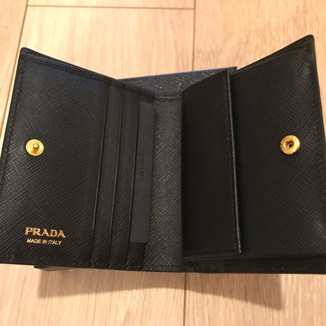 online store 59cbc 738b3 新作 PRADAモノクローム二つ折り財布 サフィアーノ レザー 新品