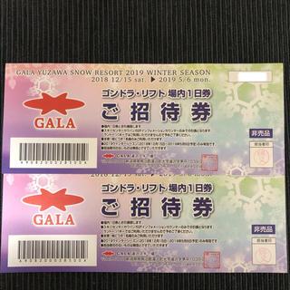 GALA湯沢スノーリゾート ペアリフト券(スキー場)