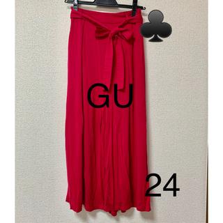 ジーユー(GU)の24 チェリーピンク ワイドパンツ GU(バギーパンツ)