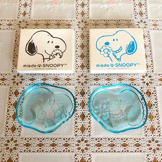 SNOOPY - ミスド スヌーピー ガラスプレート 2皿