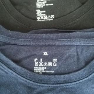 無印 MUJI Tシャツ 紺 黒 XL