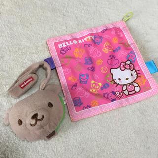 ミキハウス(mikihouse)のベビー かしゃかしゃ おもちゃ 2個セット 布絵本 ミキハウス ハローキティ(その他)