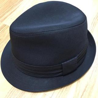 黒 中折れ 帽子(ハット)
