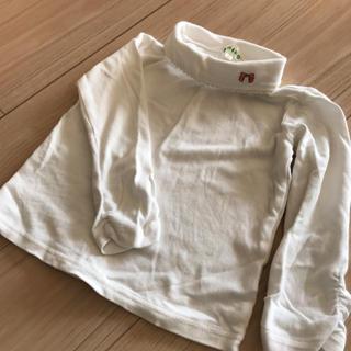 サンカンシオン(3can4on)の95センチ リボン刺繍付きハイネック(Tシャツ/カットソー)