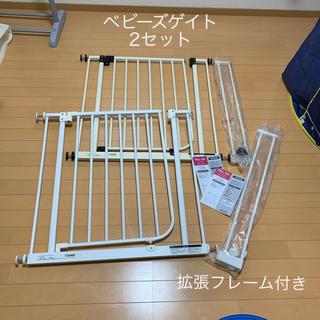 ニホンイクジ(日本育児)の日本育児 ベビーズゲイト 2つセット(ベビーフェンス/ゲート)