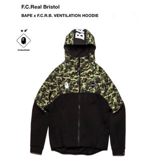 A BATHING APE - F.C.R.B × Bape VENTILATION HOODIE XL 完売品