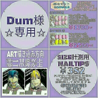 Dum様☆専用ページ(ネイルチップ)