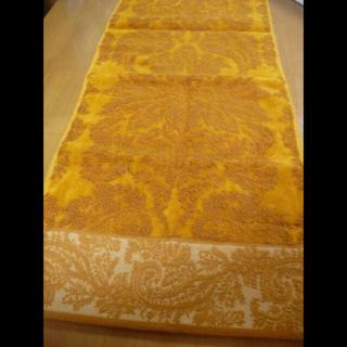 エトロ(ETRO)のエトロフェイスタオル  からし色ロゴ刺繍(タオル/バス用品)