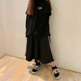 プニュズ(PUNYUS)のPUNYUS 2ラインジャージスカート4(ロングスカート)