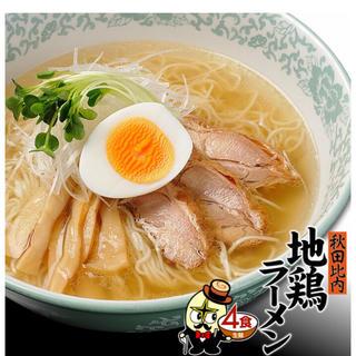 秋田比内地鶏ラーメン❻食(^ω^)(麺類)