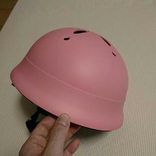 幼児自転車用ヘルメット ピンクで(自転車)