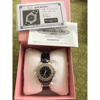 アレッサンドラオーラ(ALESSANdRA OLLA)のアレサンドオーラ  天然ダイアモンド 1 石付き(腕時計)