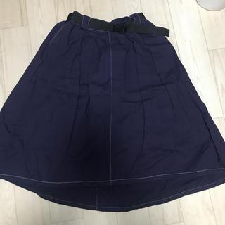 ダブルネーム(DOUBLE NAME)の膝下 ワンピース 紫 パープル(ロングワンピース/マキシワンピース)