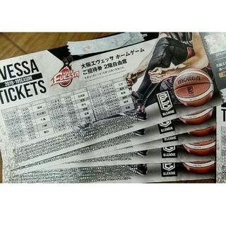 大阪エヴェッサ ホームゲーム 2階自由席 ご招待券(バスケットボール)