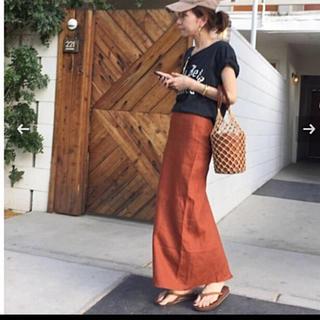 アパルトモンドゥーズィエムクラス(L'Appartement DEUXIEME CLASSE)のL'Appartement/◆Back Slit LINEN LONG スカート(ロングスカート)
